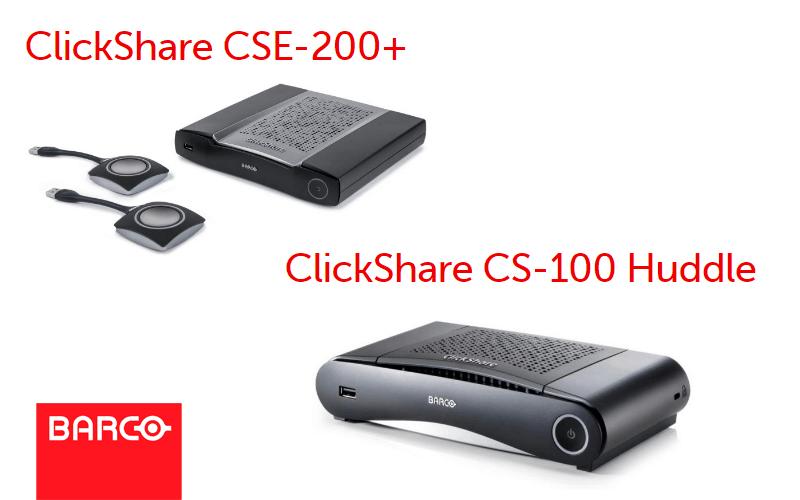 NU beschikbaar: ClickShare CSE-200 + en ClickShare CS-100 Huddle