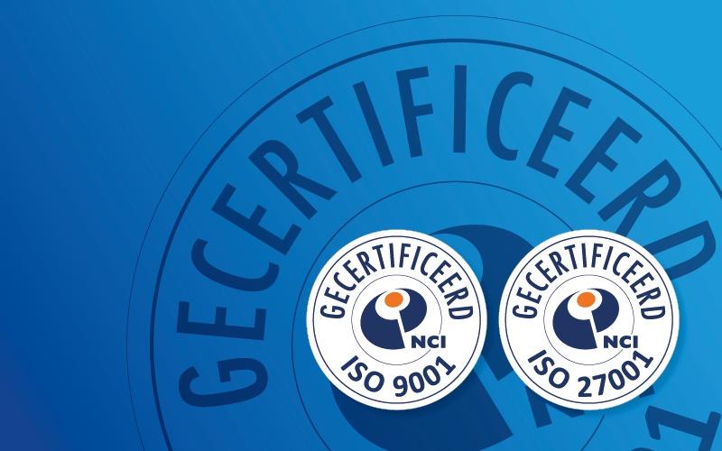 AENC is ISO 9001 en ISO 27001 gecertificeerd!